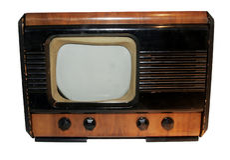 Isolated Real Vintage Radio stock photo