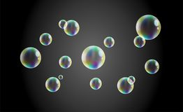 Realistic Soap Bubbles royalty free illustration