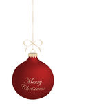 Isolated realistic Christmas ball. Stock Images