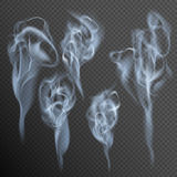Isolated realistic cigarette smoke waves. EPS 10. Vector file included stock illustration