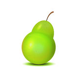 Isolated realistic pear for your design Stock Photos