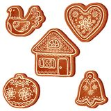 Isolated realistic vector christmas sweets Stock Images