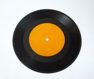 Isolated record. 45 rpm record on white background Royalty Free Stock Image