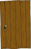 Isolated rectangular wooden door Stock Photo