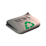 Isolated recyclable icon Stock Image