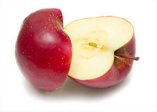 Isolated red apple 2 Stock Photo