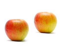 Isolated red apples Stock Photo