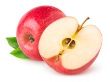 Isolated red apples royalty free stock image