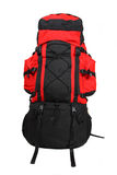 Isolated red  backpack. Large image of red backpack Royalty Free Stock Images