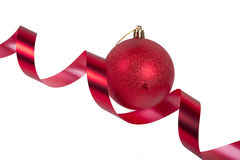 Isolated red ball and  ribbon Royalty Free Stock Photo
