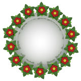 Isolated red blossom circle  card motive Stock Image