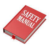 Isolated red book with safety manual Stock Photo