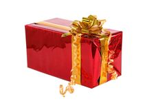 Isolated red box Royalty Free Stock Images