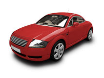 Isolated red car front view Stock Image