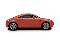 Isolated red car side view Royalty Free Stock Photos