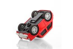 toys car crash accident damaged.Insurance on the. Background, engine. royalty free stock images