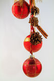 Isolated red Christmas Bauble Arrangement Stock Photos