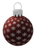 Isolated Red Christmas Ornament Stock Images