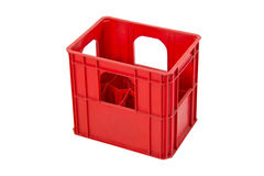 Isolated red crate Stock Images