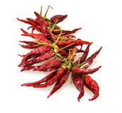 Isolated red dry chillies Stock Image