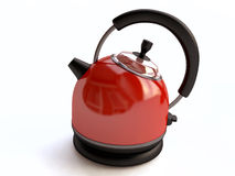 Isolated Red Electrical Kettle Stock Images