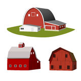 Isolated red farms. Isolated vector red farms illustration Royalty Free Stock Images