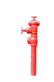 Isolated red fireplug on white Royalty Free Stock Photos