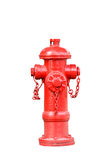Isolated red fireplug on white Royalty Free Stock Image