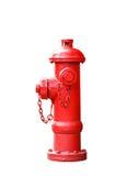 Isolated red fireplug on white Stock Photos
