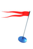 Isolated red flag on flagstaff Stock Photography