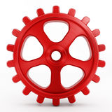 Isolated red gear Royalty Free Stock Photos