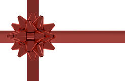 Isolated Red Gift Bow Royalty Free Stock Photo