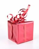 Isolated red gift box Stock Photo