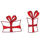 Isolated red gift on the white background. Holiday gift Stock Image