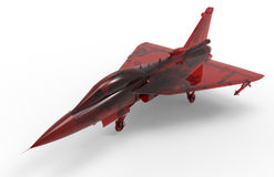 Isolated red glass jet fighter Royalty Free Stock Photos
