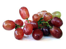 Isolated Red Grapes Royalty Free Stock Photography