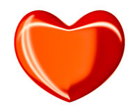 Isolated red heart Royalty Free Stock Photos