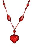 Isolated red heart necklace