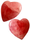 Isolated red hearts Royalty Free Stock Photos