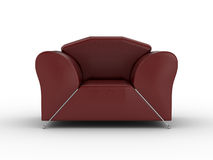 Isolated red leather armchair Royalty Free Stock Photos