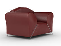 Isolated red leather armchair. An interior Royalty Free Stock Image