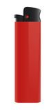 Isolated red lighter. Isolated red plastic lighter, clip-art, illustration, vivid Royalty Free Stock Photo
