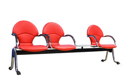 Isolated red modern seats Royalty Free Stock Photos