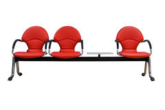 Isolated red modern seats on white Royalty Free Stock Photos