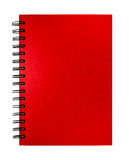 Isolated red notebook. On white background Royalty Free Stock Photos