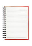 Isolated red notebook Stock Photo