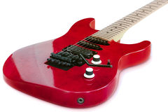 Isolated Red Old Guitar