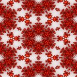 Isolated red orange fractal ornaments in white background. Red corner of frame. Stock Image