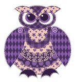 Isolated red patchwork owl Stock Images