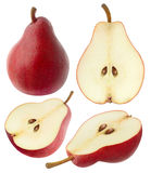 Isolated red pears Royalty Free Stock Photo